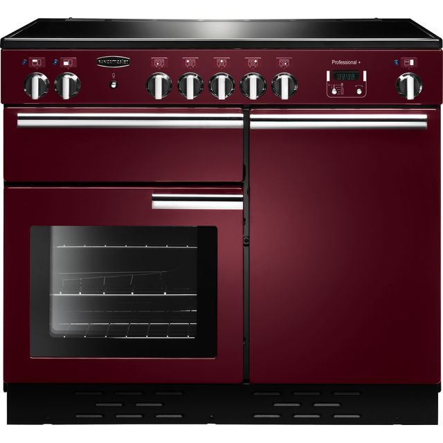Rangemaster Professional Plus 100cm Electric Range Cooker with Induction Hob - Cranberry - A Rated