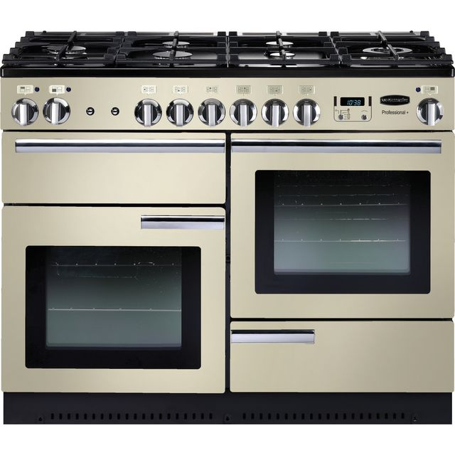 Rangemaster Professional Plus 110cm Dual Fuel Range Cooker - Cream / Chrome - B Rated