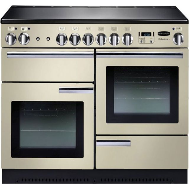 Rangemaster Professional Plus 110cm Electric Range Cooker with Induction Hob - Cream - A Rated