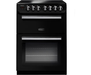 Rangemaster Professional Plus 60 Electric Cooker with Ceramic Hob - Black / Chrome - A/B Rated