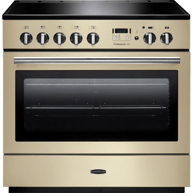 Rangemaster Professional Plus FX PROP90FXEICR/C 90cm Electric Range Cooker with Induction Hob - Cream - A Rated