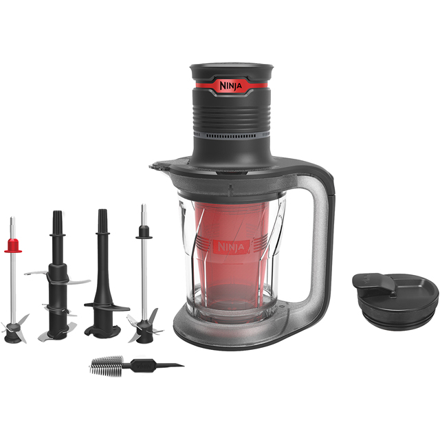 Ninja Ultra Prep PS100UK 1.4 Litre Blender with 9 Accessories - Black / Red - PS100UK_BKRD - 1