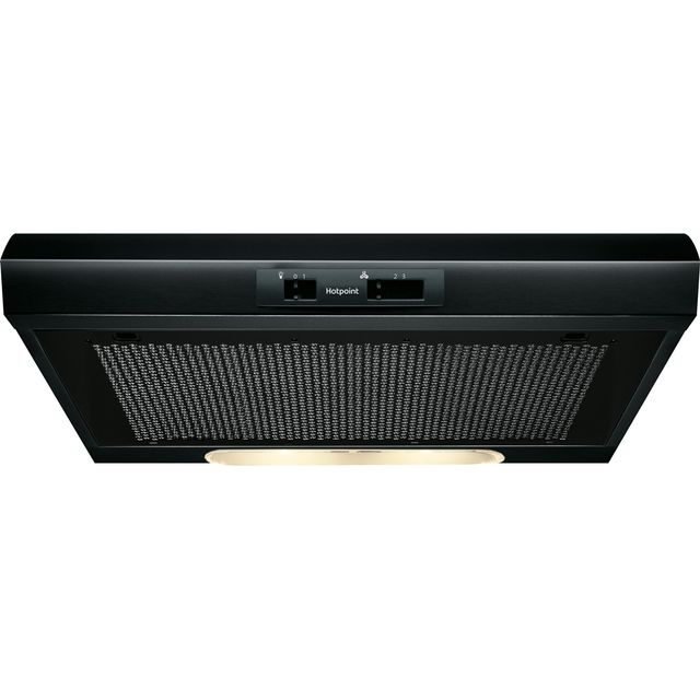 Hotpoint 60 cm Visor Cooker Hood - Black - D Rated