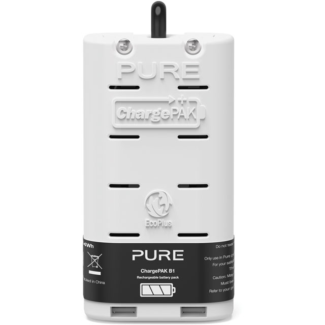 Pure ChargePAK B1 VL-61949 Digital Radio in White