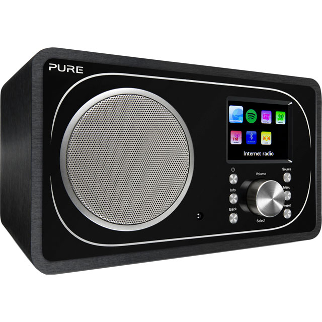 Pure Evoke F3 DAB / DAB+ Digital Radio with FM Tuner - Black