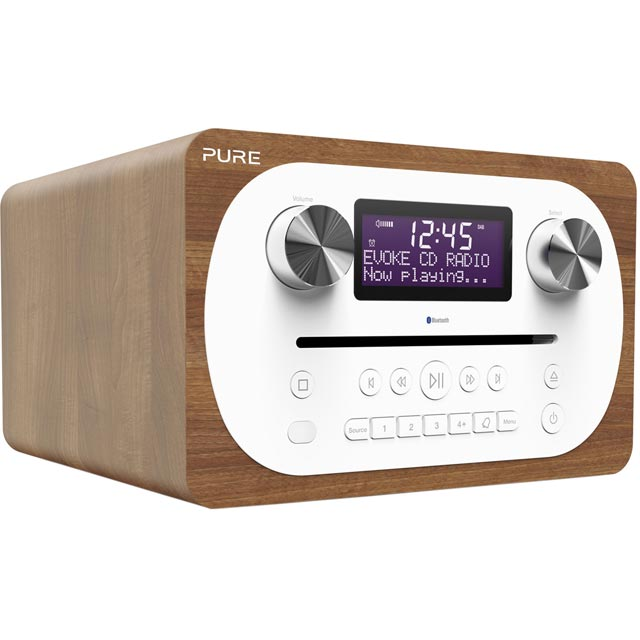 Pure Evoke C-D4 DAB / DAB+ Digital Radio with FM Tuner - Walnut - VL-62900 - 1