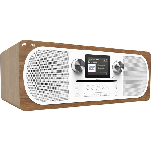 Pure Evoke C-F6 DAB / DAB+ Digital Radio with FM Tuner - Walnut - VL-62902 - 1