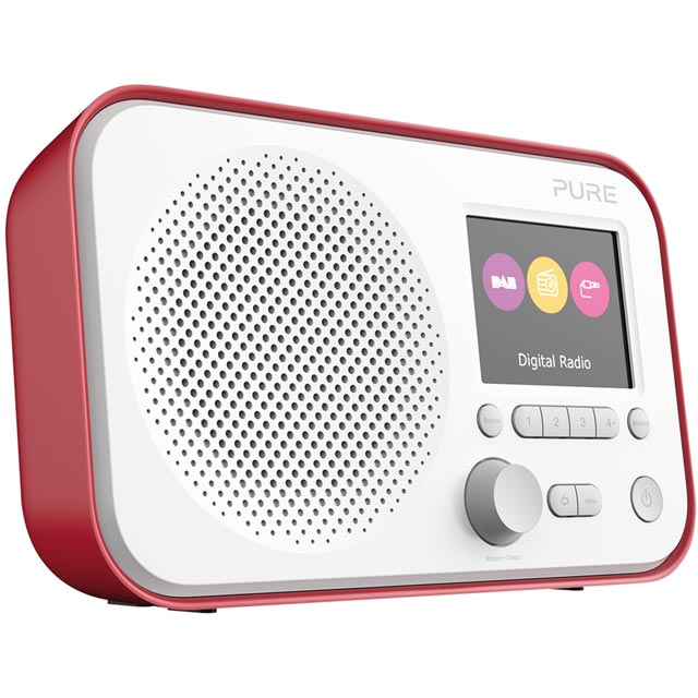 Pure Elan E3 DAB / DAB+ Digital Radio with FM Tuner - Red - VL-62954 - 1