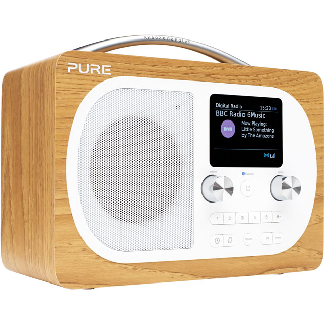Pure Evoke H4 DAB / DAB+ Digital Radio with FM Tuner - Oak