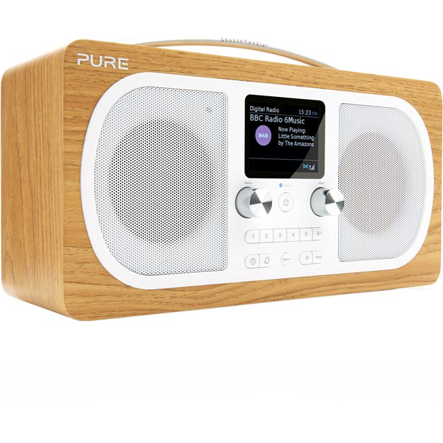 Pure Evoke H6 DAB / DAB+ Digital Radio with FM Tuner - Oak - VL-62972 - 1