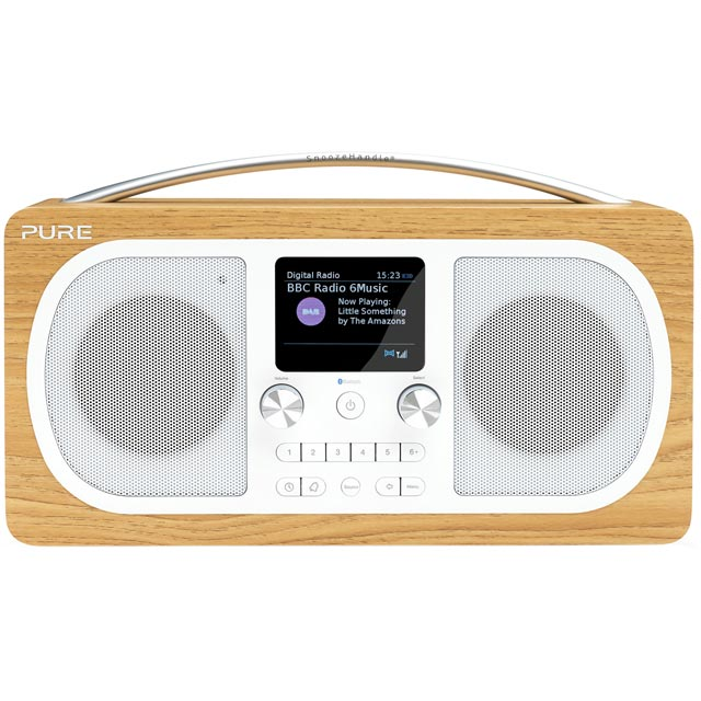 Pure Evoke H6 VL-62972 DAB / DAB+ Digital Radio with FM Tuner - Oak - VL-62972 - 2