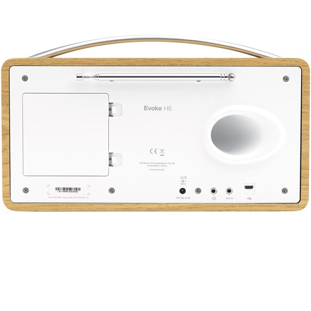 Pure Evoke H6 VL-62972 DAB / DAB+ Digital Radio with FM Tuner - Oak - VL-62972 - 3
