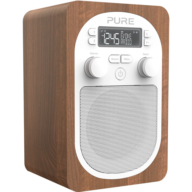 Pure Evoke H2 DAB / DAB+ Digital Radio with FM Tuner - Walnut