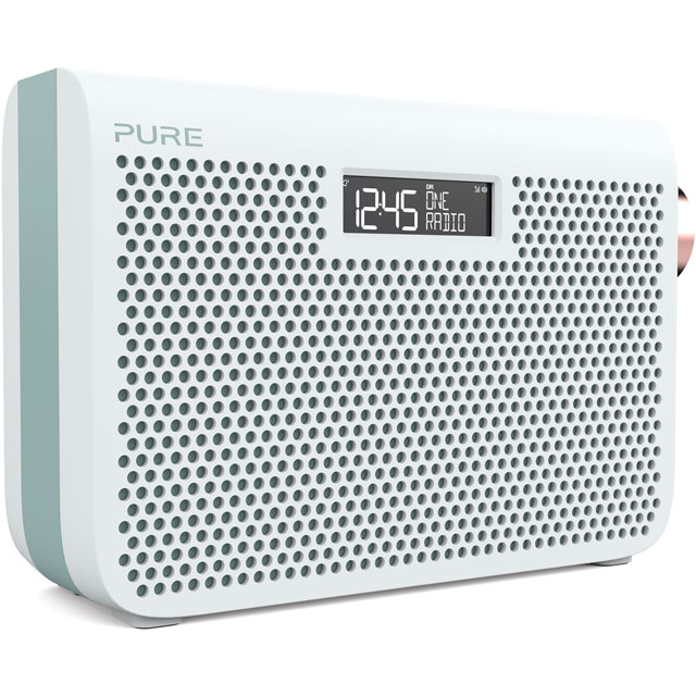 Pure One Midi Series 3s DAB / DAB+ Digital Radio with FM Tuner - Jade White - 149953 - 1