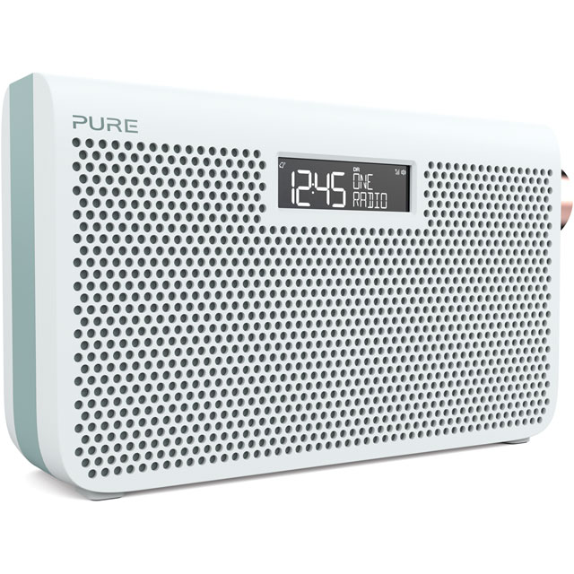 Pure One Maxi Series 3s DAB / DAB+ Digital Radio with FM Tuner - Jade White - 149955 - 1
