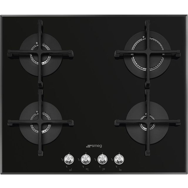 Smeg Linea PV164N2 Built In Gas Hob - Black