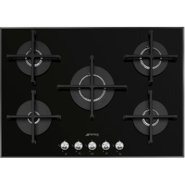 Smeg Gas hob with 5 Burners PV175N2, Glass, Black