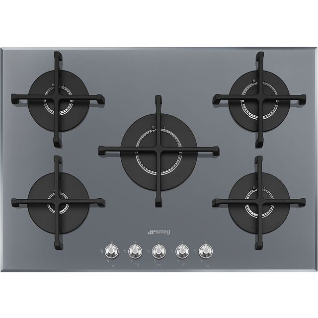 Smeg Linea PV175S2 Built In Gas Hob - Silver - PV175S2_SI - 1