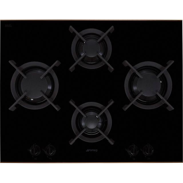 Smeg Dolce Stil Novo PV664LCNR 65cm Gas Hob – Black / Copper