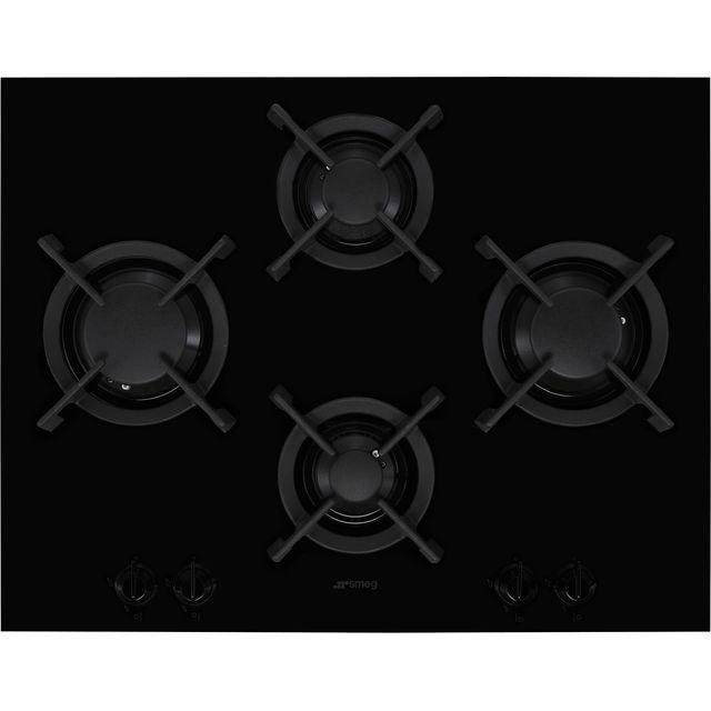 Smeg Dolce Stil Novo PV664LCNX 65cm Gas Hob – Black / Stainless Steel