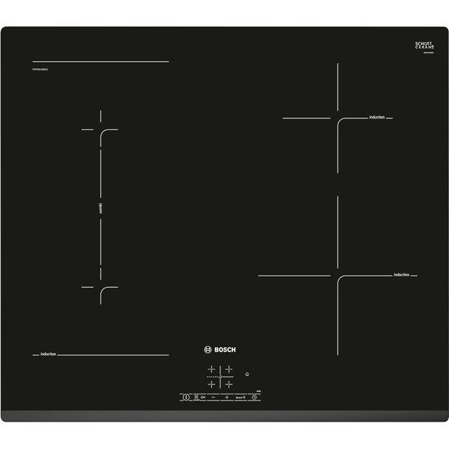 Bosch Serie 2 PWP631BB1E 59cm Induction Hob - Black - PWP631BB1E_BK - 1