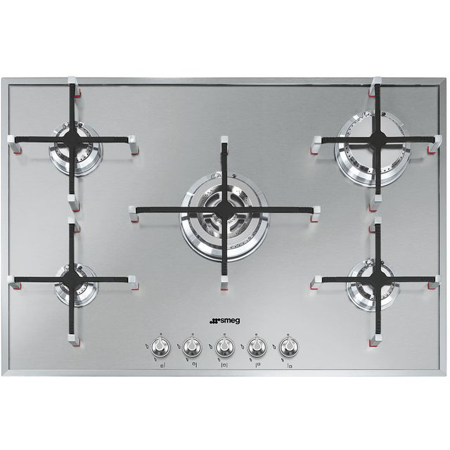 Smeg Gas hob with 5 Burners PX7502, Stainless Steel