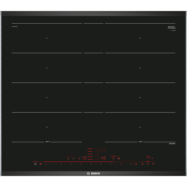 Bosch Serie 8 PXY675DE3E 61cm Induction Hob - Black - PXY675DE3E_BK - 1