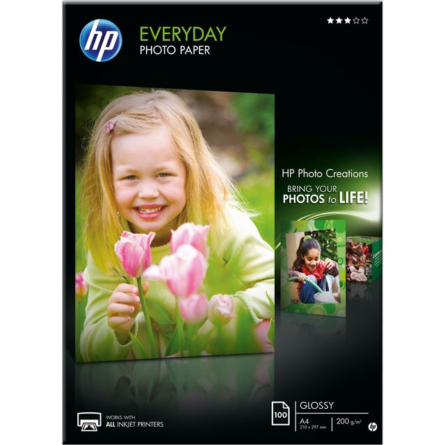 HP Everyday Glossy Photo Paper Q2510A Printer Ink - White - Q2510A - 1