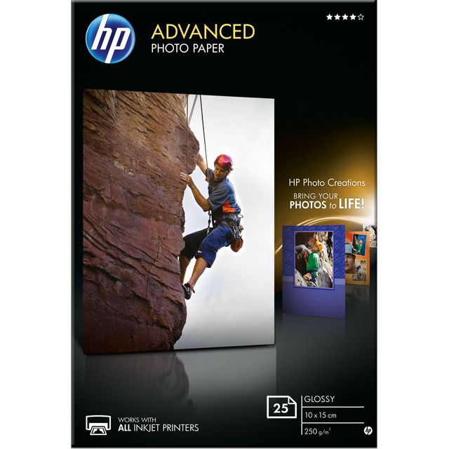 HP Advanced Glossy Photo Paper-25 sht/10 x 15 cm - Q8691A - 1