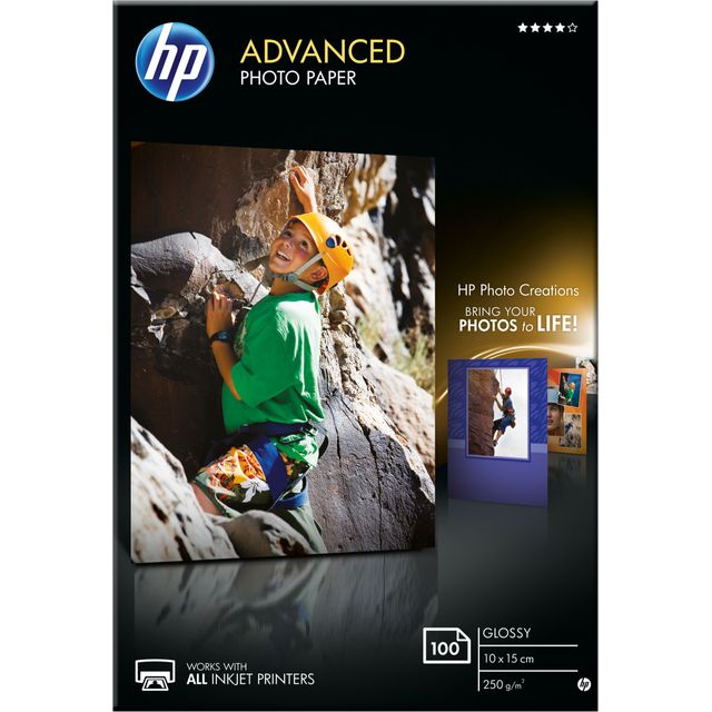 HP Advanced Glossy Photo Paper-100 sheet (10 x 15 cm)