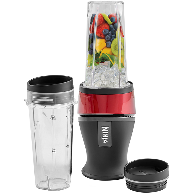 Ninja QB3001UKMR Smoothie Maker - Metallic Red - QB3001UKMR_MRD - 1