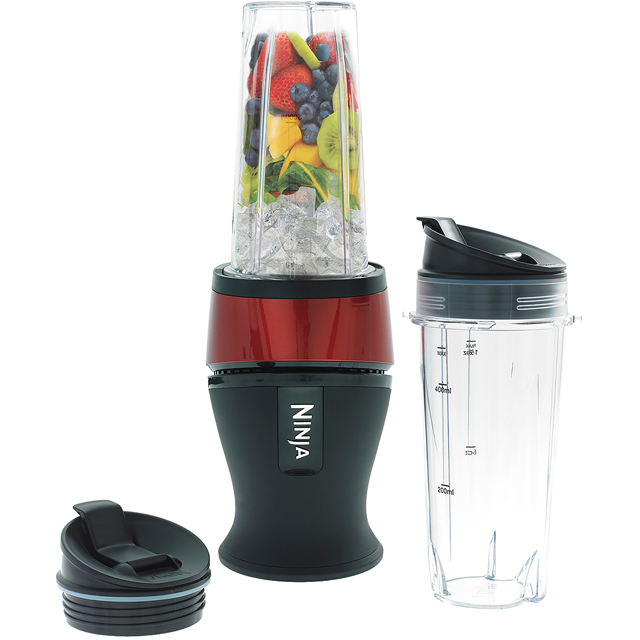 Ninja Nutri Ninja Slim QB3001UKMRS Smoothie Maker with 2 Drink Containers - Metallic Red - QB3001UKMRS_MRD - 1