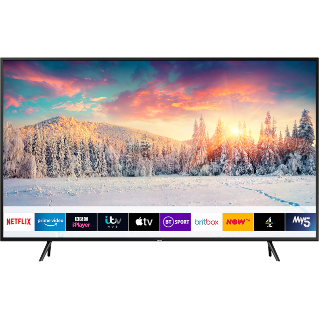 "Samsung QLED QE43Q60RA 43"" Smart HDR 4K Ultra HD TV With 100% Colour Volume, Quantum Processor 4K, Ambient Mode and Apple TV - QE43Q60RA - 1"