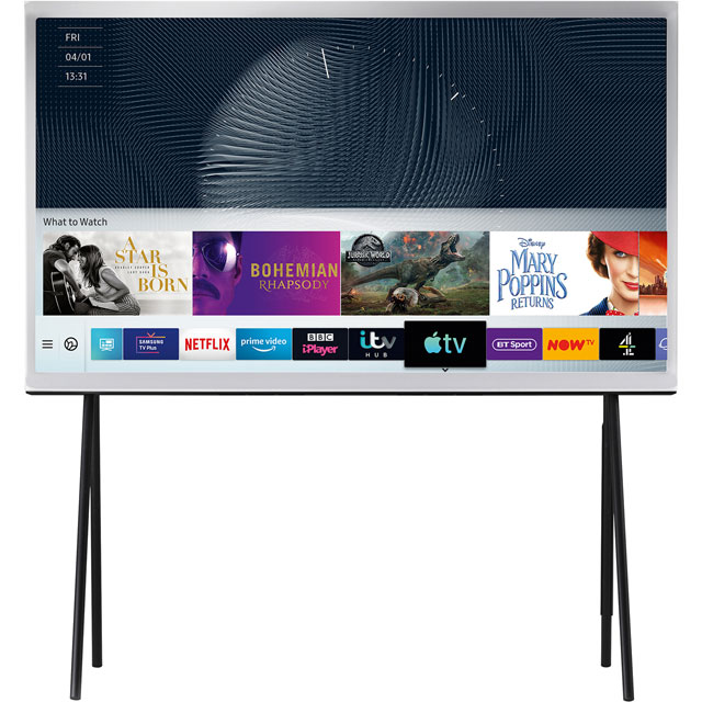 "Samsung Serif QE49LS01RA 49"" Smart HDR 4K Ultra HD QLED TV With 100% Colour Volume, Quantum Processor 4K and Apple TV - QE49LS01RA - 1"