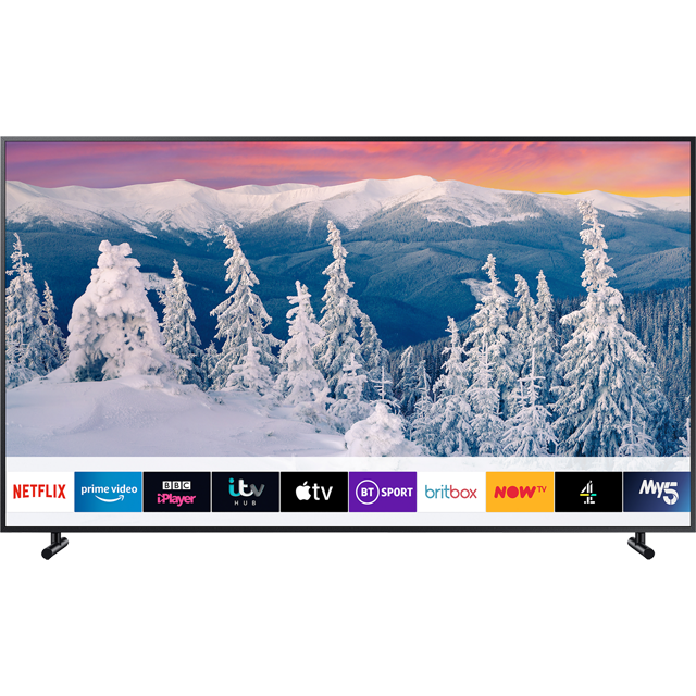 "Samsung QE55LS03R The Frame 55"" Smart QLED 4K Ultra HD TV with HDR10+, Art Mode and Apple TV - Charcoal Black - QE55LS03R - 1"