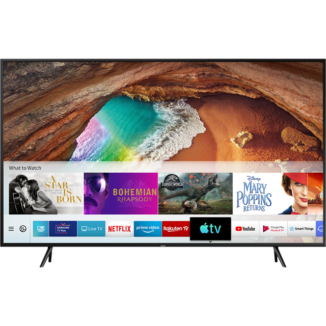 "Samsung QLED QE55Q60RA 55"" Smart HDR 4K Ultra HD TV With 100% Colour Volume, Quantum Processor 4K and Ambient Mode - QE55Q60RA - 1"