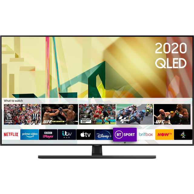 "Samsung QE55Q70TA 55"" Smart 4K Ultra HD QLED TV With 100% Colour Volume, Quantum Processor and Dual LED"