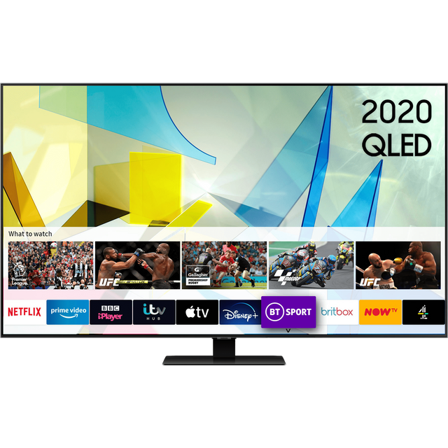 "Samsung QE55Q80TA 55"" Smart 4K Ultra HD TV - Black - QE55Q80TA - 1"