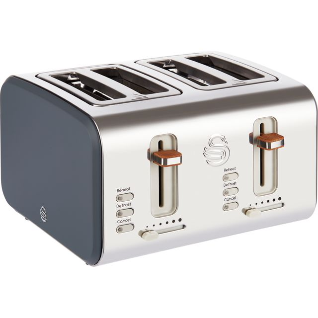 Swan Nordic ST14620GRYN 4 Slice Toaster - Grey