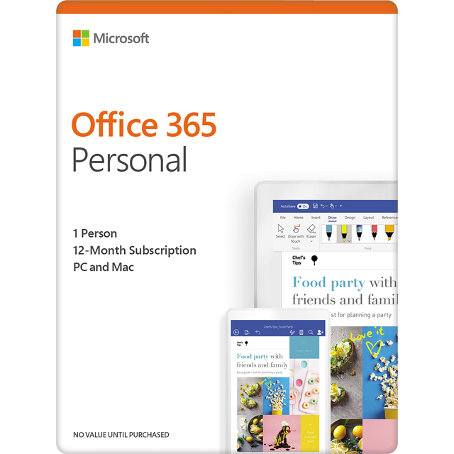 Microsoft Office 365 Personal Digital Download for 1 User - Annual Subscription - QQ2-00012 - 1