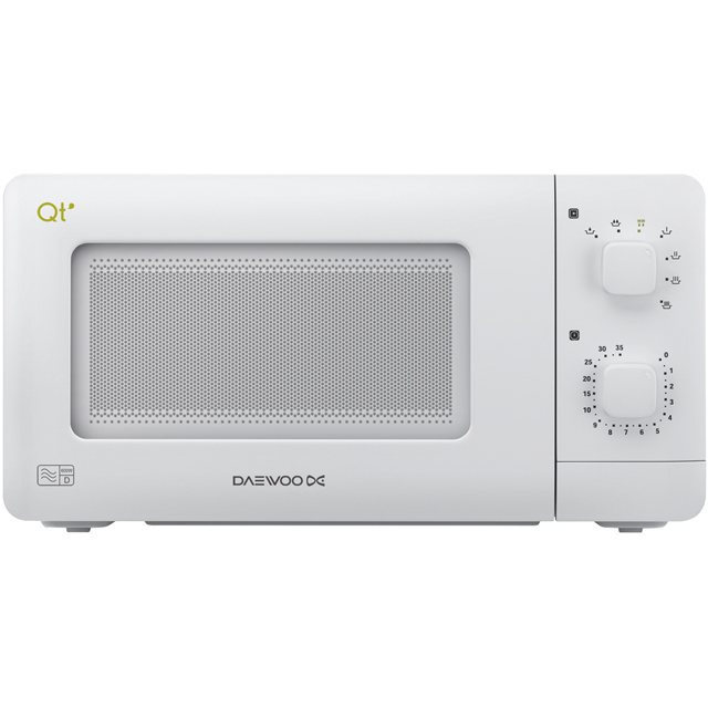 Daewoo QT1 Free Standing Microwave Oven in White