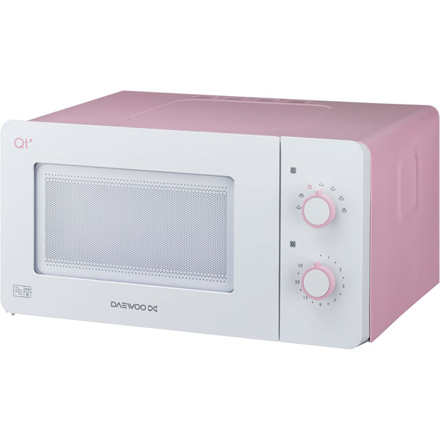 Daewoo Microwaves QT3R Free Standing Microwave Oven in Pink