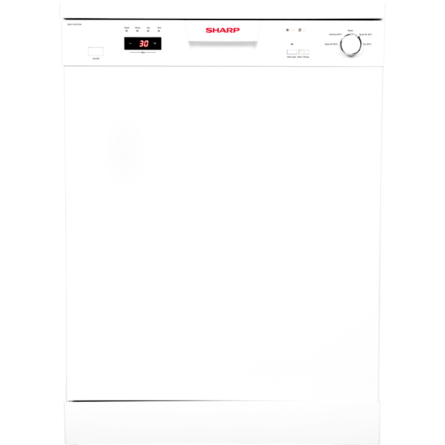 Sharp QW-C13F472W Standard Dishwasher - White - A++ Rated Best Price, Cheapest Prices