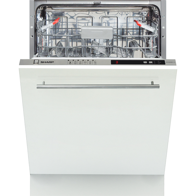 Sharp QW-D22I492X-EN Fully Integrated Standard Dishwasher - Black Control Panel with Fixed Door Fixing Kit - A++ Rated - QW-D22I492X-EN_BK - 1