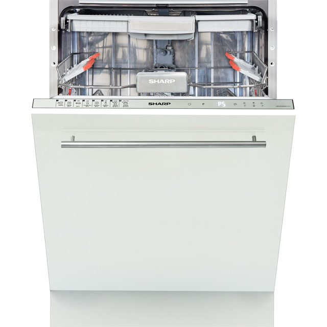 Sharp QW-GD54R443X Fully Integrated Standard Dishwasher - Silver Control Panel with Fixed Door Fixing Kit - A+++ Rated - QW-GD54R443X_SI - 1