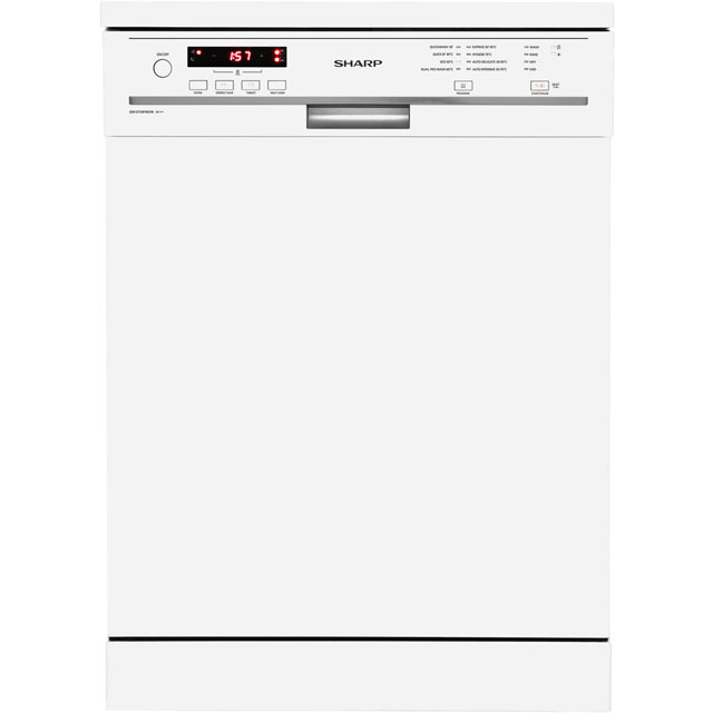 Sharp QW-GT24F463W Standard Dishwasher - White - A+++ Rated Best Price, Cheapest Prices