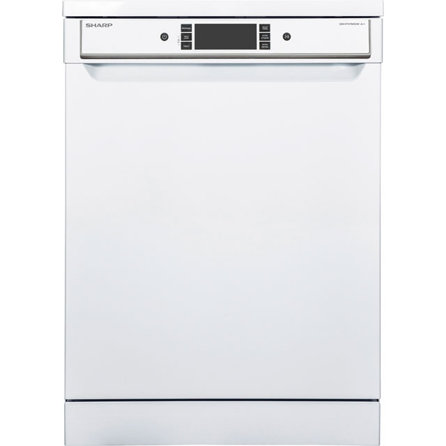 Sharp QW-HT31R452W Standard Dishwasher - White - A++ Rated Best Price, Cheapest Prices