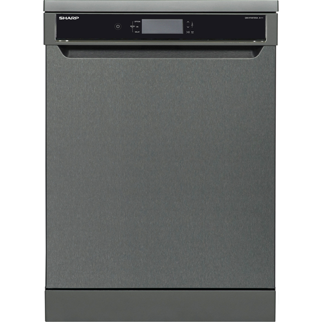 Sharp QW-HT43F393A Standard Dishwasher - Anthracite - A+++ Rated - QW-HT43F393A_SSL - 1