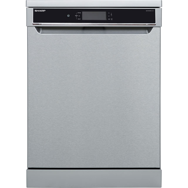 Sharp QW-HT43F393I Standard Dishwasher - Stainless Steel Effect - A+++ Rated Best Price, Cheapest Prices