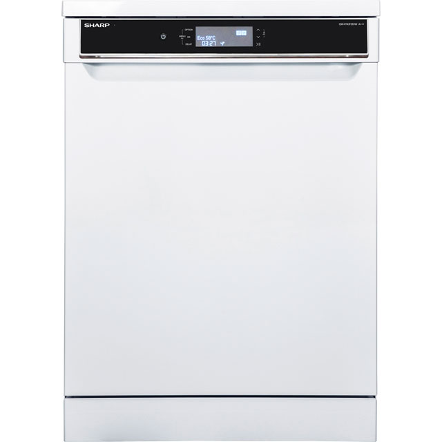 Sharp QW-HT43F393W Standard Dishwasher - White - A+++ Rated - QW-HT43F393W_WH - 1
